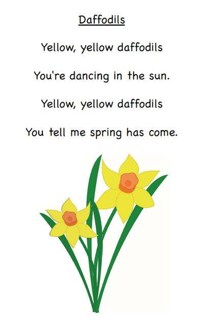Freebie: April Poetry Collection | Poetry | Kindergarten poems, Spring poems for kids, Daffodils