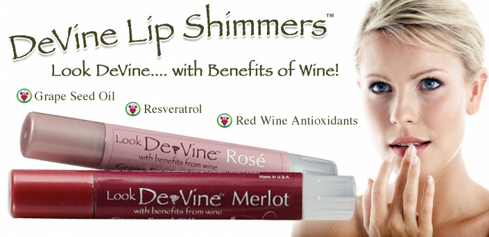 100% all natural lip shimmer with the benefits from wine!