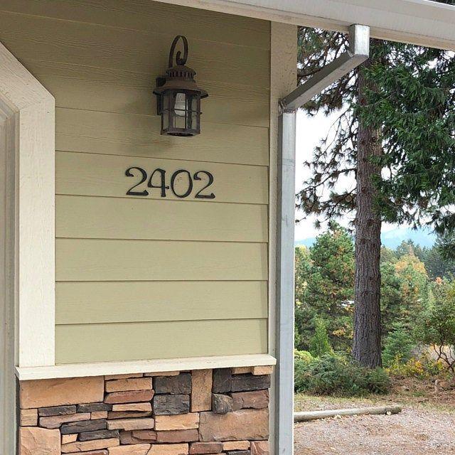 Large Brush Script Cursive House Numbers Etsy House Address House Numbers House