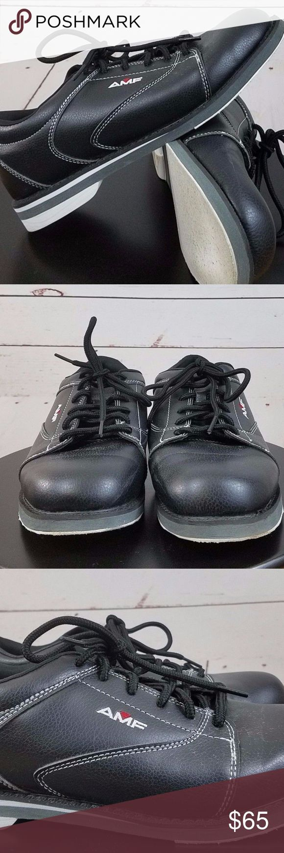 AMF Men's Bowling Shoes Size 9 Black Style L51028A AMF Men's Bowling Shoes Size 9 Black Style L51028AV  Gently used shoes with some lite normal wear. amf Shoes Athletic Shoes