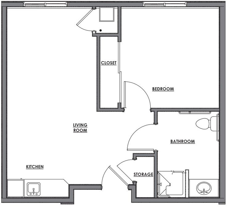 Lovely one room house plans in 2019 one room houses - Design a room floor plan ...