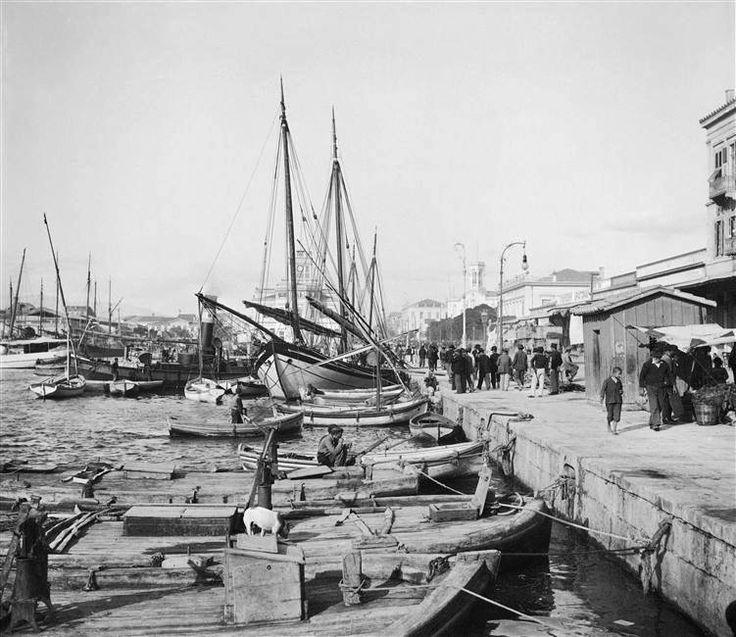 Πειραιάς, στην προκυμαία, 1903, αρχείο Υπουργείου Πολιτισμού Γαλλίας, φωτογράφος Petit