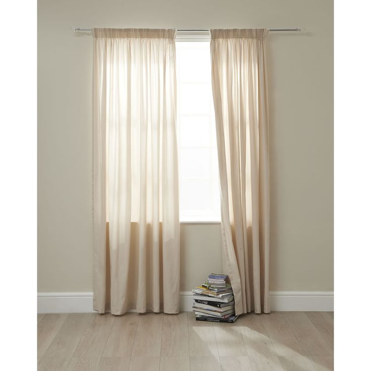 Wilko twill pencil pleat curtains natural 167 x