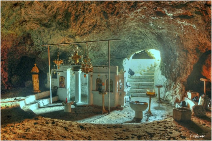 cave church in Karpathos, Greece