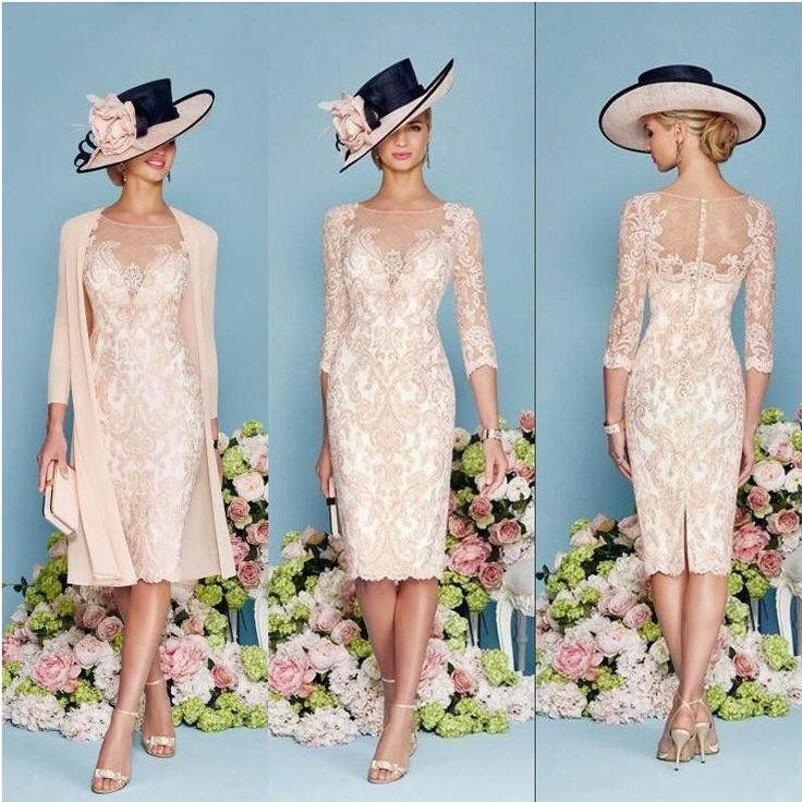 Light Pink Lace Mother Of The Bride Outfit Chiffon Jacket Wedding Guest Dress in Clothes, Shoes & Accessories, Wedding & Formal Occasion, Mother of the Bride | eBay!