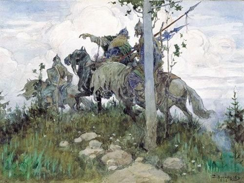 mounted knights, Viktor Vasnetsov