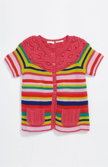 United Colors of Benetton Kids Stripe Cardigan (Infant)