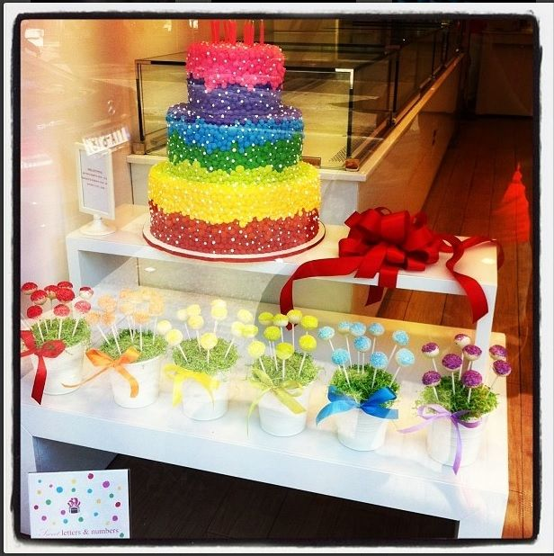 #Rainbow #cake! www.thesweetspot.gr