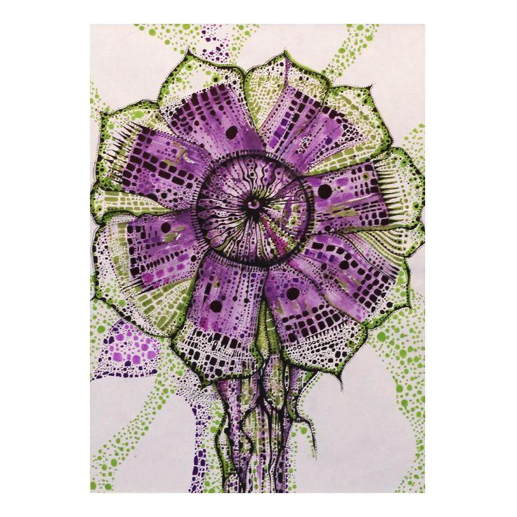 Wiatrak fioletowy | Rysunek | 29,7 x 21 cm