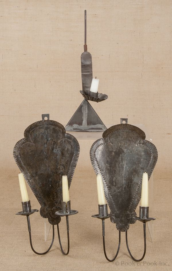 566 best early primitive wrought iron and tin lighting images on 19th c punched tin sconces mozeypictures Image collections