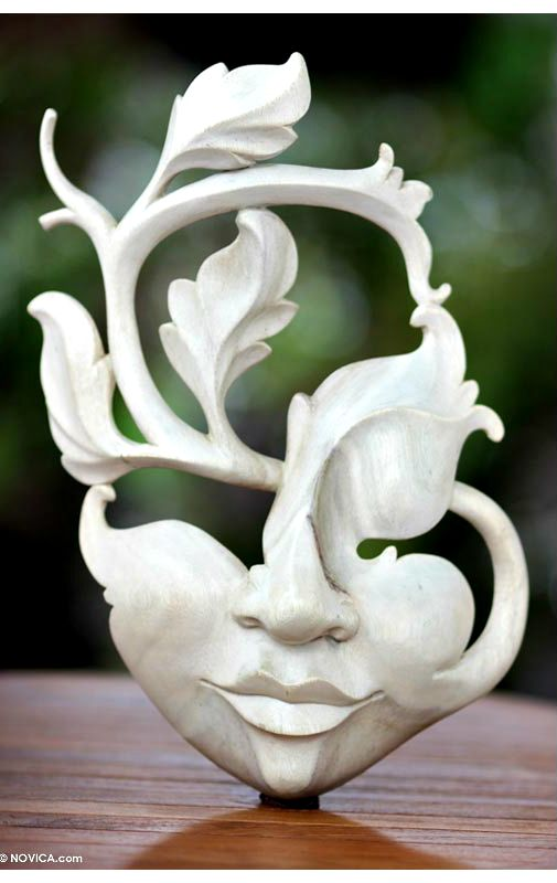 'Blossoming smile' mask
