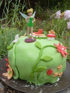 Gâteau Fée Clochette, Tinkerbelt, Layer cake fraise citron