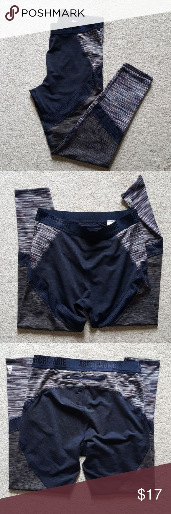 Abercrombie and Fitch Athletic Bottoms Abercrombie and Fitch Athletic Bottoms. Netted lined details throughout. Excellent condition. Stretch waist. Small zip pocket in the back for keys, etc. Metallic A&F logo on bottom of leg. 94% Polyester. 6% Elastane. Abercrombie & Fitch Pants Leggings