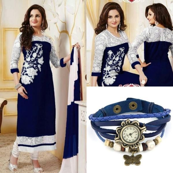 LadyIndia.com # Dress Material, Om Silk Mills Exclusive Dress Blue Suits Material, Salwar Suit, Dress Material, https://ladyindia.com/collections/ethnic-wear/products/om-silk-mills-exclusive-dress-blue-suits-material