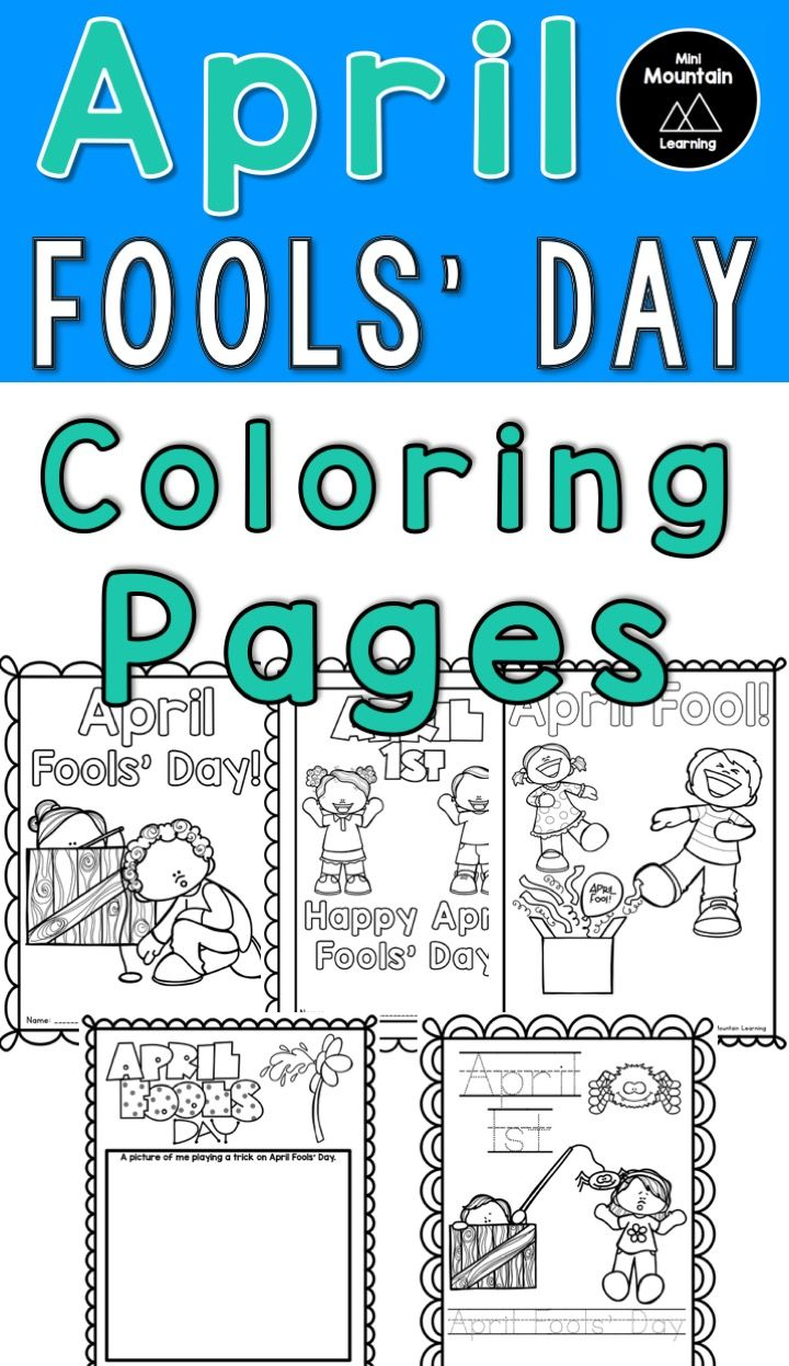 April fools' Day Activity. 5 April Fool's Day Coloring Pages