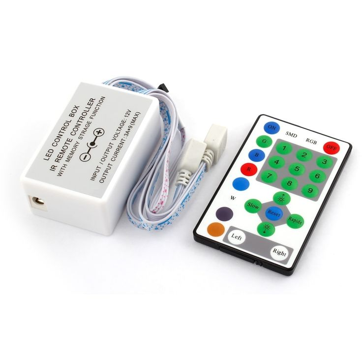 DC 12V LED Light Strip Control Box + 25 Keys Wireless IR Remote Controller