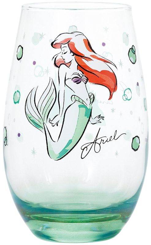Disney Japan Bicchiere Vetro Ariel Originale