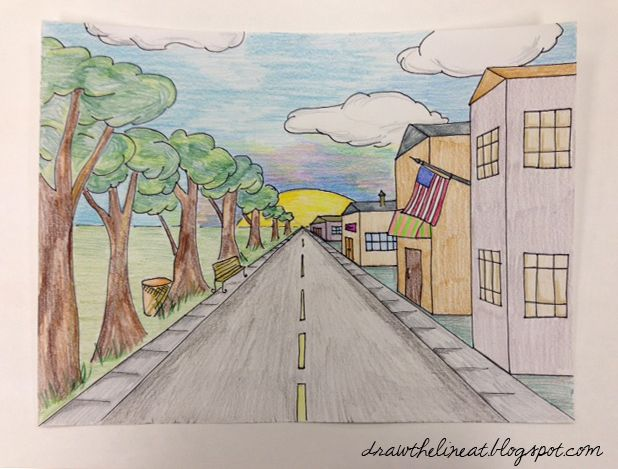 48 best Acrylic Painting ideas images on Pinterest ... Easy One Point Perspective Drawing For Kids