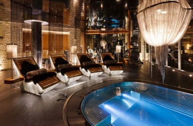 The glamorous spa at chalet Zermatt Peak