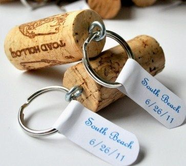 great way to remember special bottles...and  for key rings