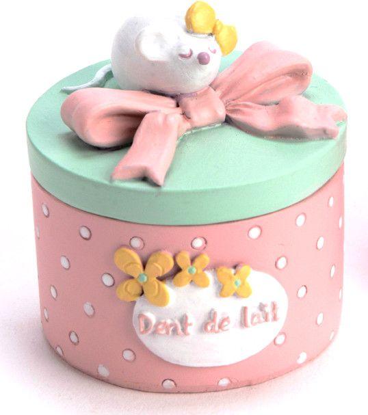 bo te dent de lait petite souris noeud sur petite souris dents et rose poudre. Black Bedroom Furniture Sets. Home Design Ideas