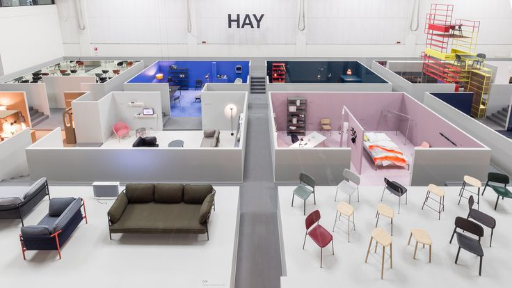 To showcase its new collaborations with lighting brand Wrong.London, buzzy Danish brand Hay turned the showspace at La Pelota into a dollhouse of sorts that viewers can walk into or view from above.