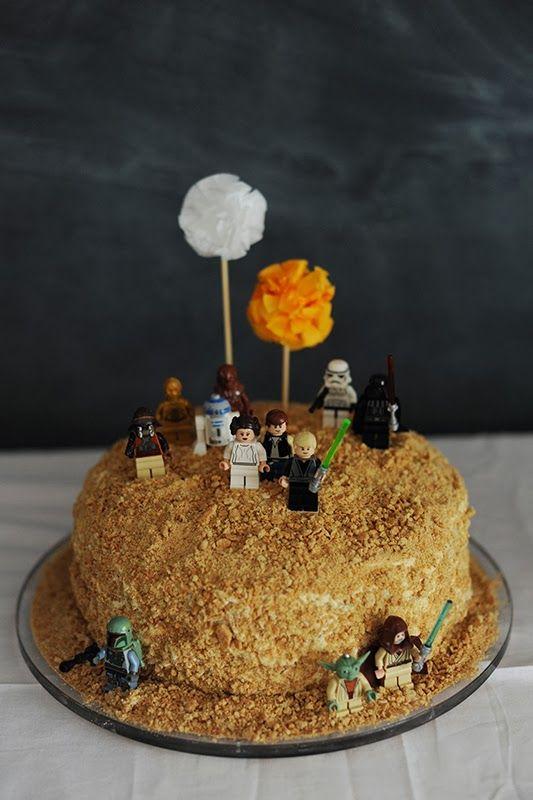 star wars lego tatooine cake