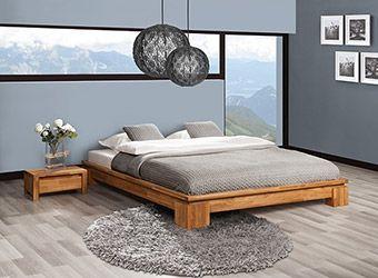 Rama dębowa łóżka VINCI niskie