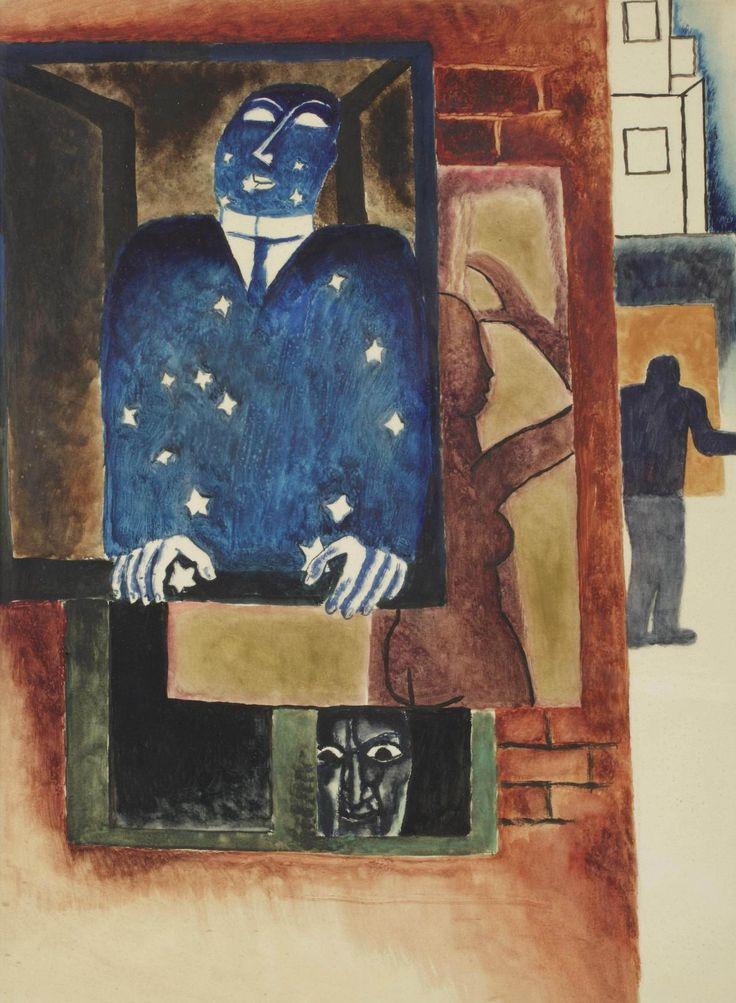 Frits van den Berghe (1883-1939) Fenetre Dans La Nuit 1925 (65 x 48 cm)
