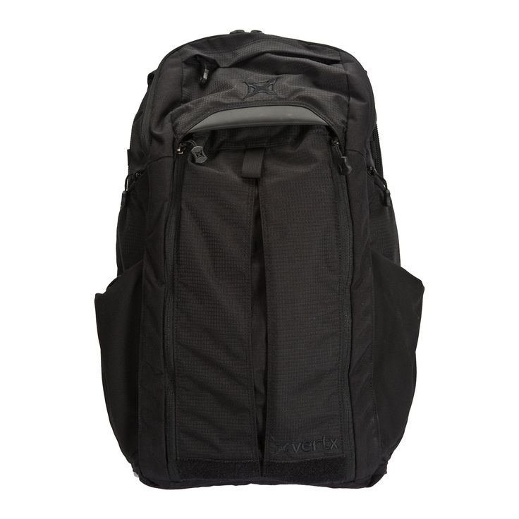 """Vertx EDC Gamut Plus Bag, Black, One Size, VTX5020. 1919 modular webbing on shoulder strap provides multiple attachment points for accessories. Size of bag is 9"""" X 14"""" X 24""""; maximum capacity 35 liters; sized to fit a 15"""" laptop in addition to a full sized hand-gun. Dual-sized pockets feature additional storage capacity and cinch-down side pockets with elasticized straps. Full fold, loop lined concealment draw frame enables quick access to arms and opens flat for customized organization...."""