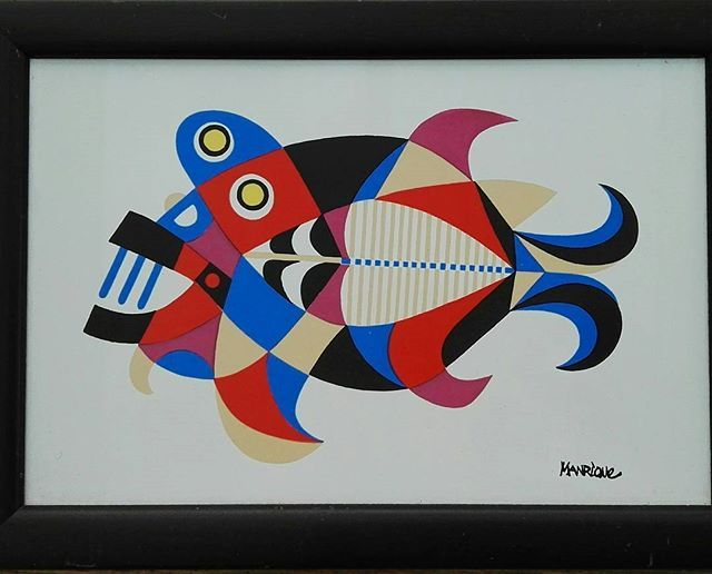 Out of my private #collection comes this in-house #tileprint by César Manrique from about #1970 I love the bright #colors and the way the #fish has been given structure. Dimensions: 30 x 20 cm Condition: very good Info: DM on Instagram #exclusive #finart #artwork #tile #style #print #wallart #interiorstyle #lanzarote #cesarmanrique #retro #artwork #seventies #myroom #forsale #instabeautiful