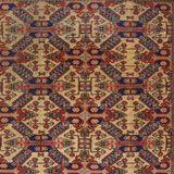 """Tappeto annodato negli anni '60 in Turchia con disegno caucasico detto """"croce di Sant'Andrea"""". il tappeto geometrico è ben conservato, morbi..."""