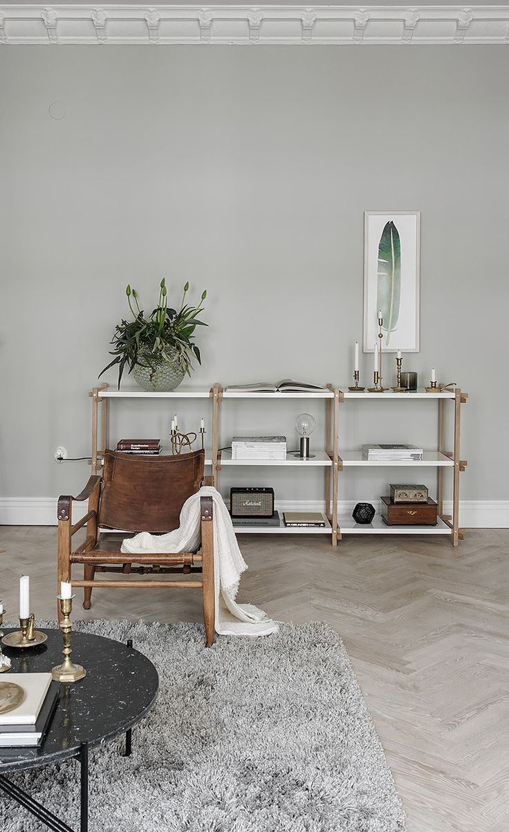Stylish turn of the century home in beige and grey - via Coco Lapine Design