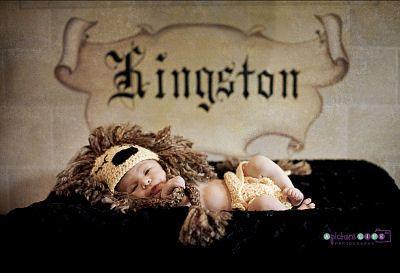 King theme newborn baby boy nursery and photo shoot