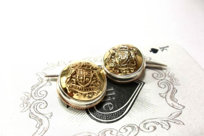 Kallie Button Cuff-Links  by Kallie