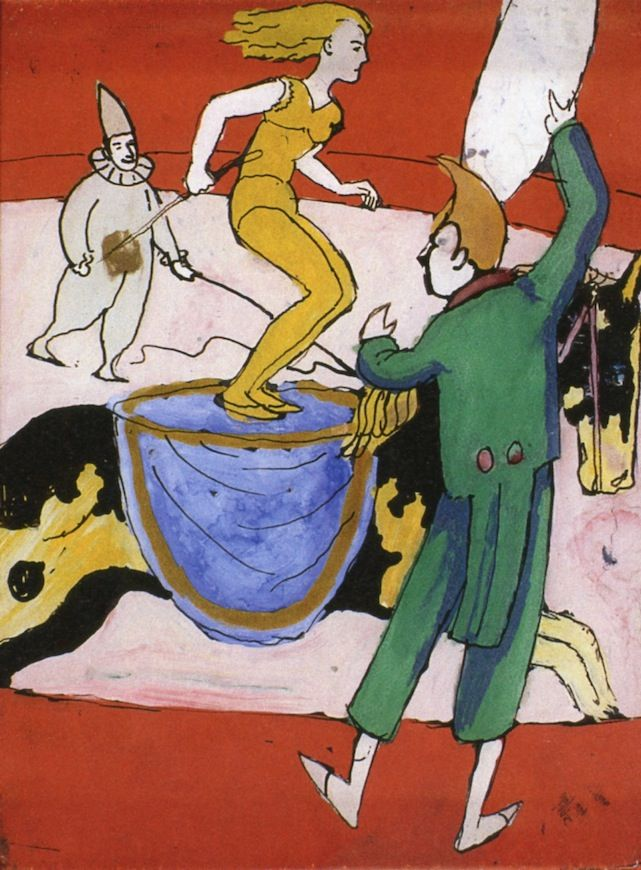 August Macke (German, 1887-1914)  'At the Circus', 1911