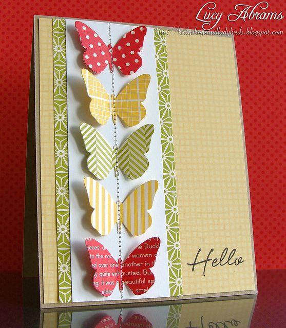 Carte hello papillons