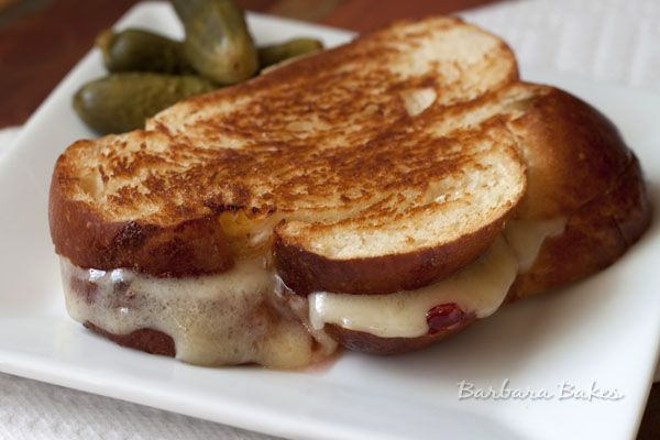 White Cheddar Raz-Pepper Grilled Cheese