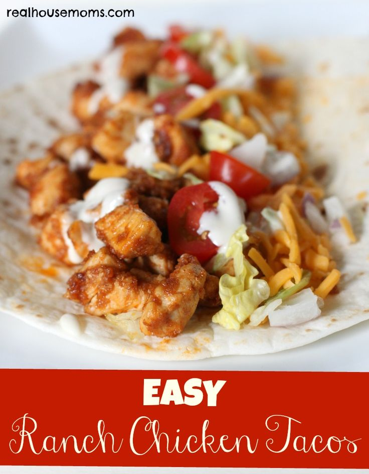 Yay! Super easy and yummy. Enough said. -AudreyEasy Ranch Chicken Tacos are flavorful, quick and easy to make, and a great meal for the entire family!