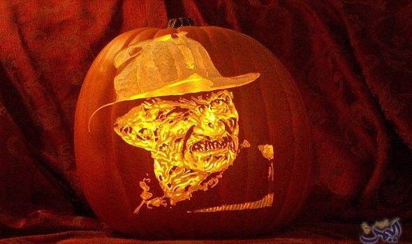 فنان أميركي يبدع في النحت على القرع مع اقتراب الهالوين Art Carving Pumpkin Carving