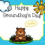Happy Groundhog Day , feb 2 , Best Festivals of year FB Cover Photo