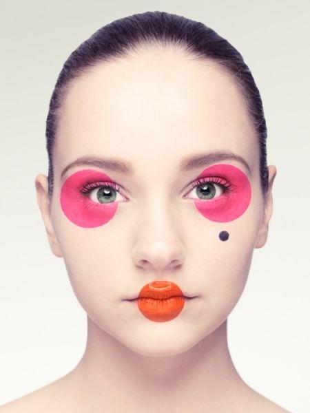 Stina 1 photographed by Klara G- ONE EYELAND #face #makeup