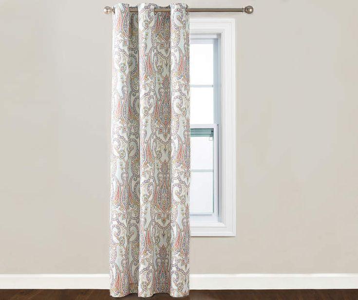 """Coral Liliana Curtain Panel, (84"""") at Big Lots."""