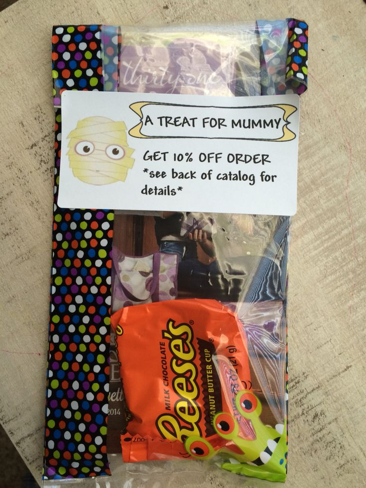 Thirty One Halloween Treat -candy, monthly flyer, mini catalog , 10% off exp. Nov. 2nd https://www.mythirtyone.com/shop/catalog.aspx?eventId=E5093385&from=DIRECTLINK