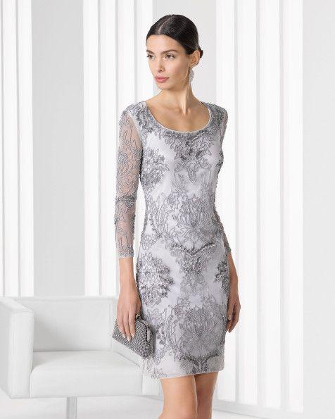 Vestido y chal de pedreria. Color nude,plata y negro.