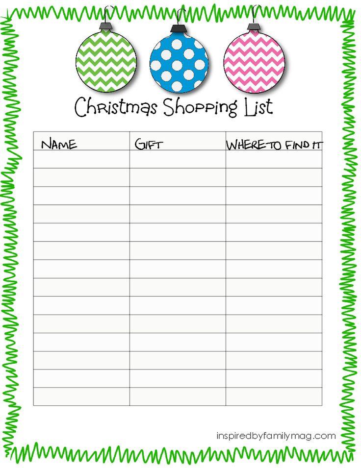 Best 25+ Christmas shopping list ideas on Pinterest Christmas - christmas checklist template