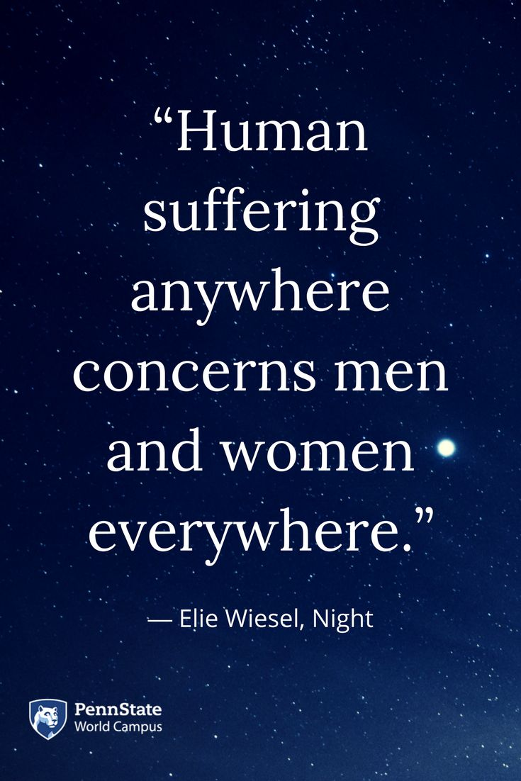 the story of the holocaust in elie wiesels night Everything you ever wanted to know about quotes about night, written by experts with you in mind skip to night by elie wiesel home / literature / night.