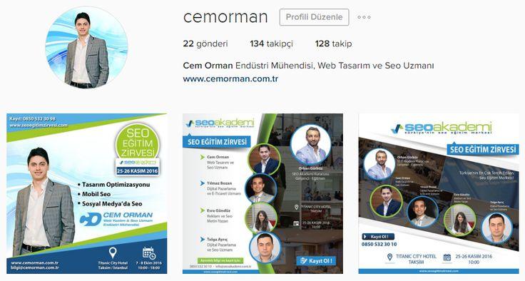 Beni aşağıdaki instagram hesabımdan takip edebilirsiniz :) https://www.instagram.com/cemorman/