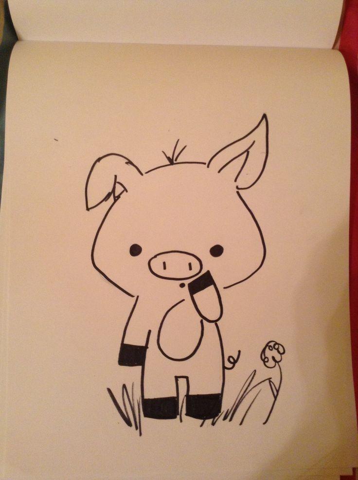 Wie Zeichnet Man Ein Schwein Ein Man Schwein Wie Zeichnet Kunst Ideen Kritzel Zeichnungen Niedliche Zeichnungen
