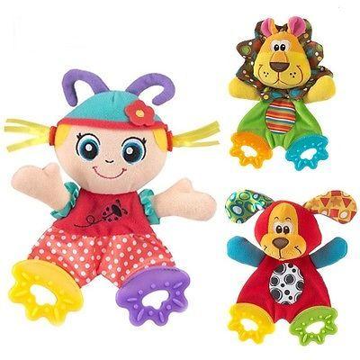 Infantil bonito Do Bebê Recém-nascido Brinquedos Boneca Apaziguar Toalha Mordedor Developmental Brinquedos